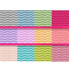 Big set of wavy seamless patterns for your design vector image