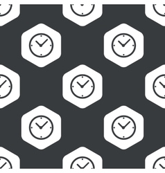 Black hexagon clock pattern vector