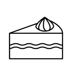 Cake outline icon vector