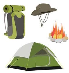 Camping equipment vector