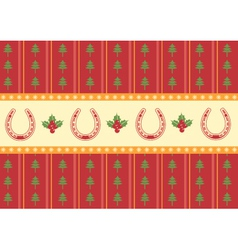 christmas decoration background for design vector image vector image