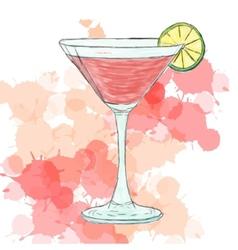 Cosmopolitan cocktail vector image