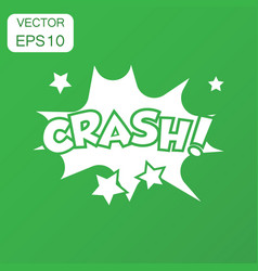 crash comic sound effects icon business concept vector image