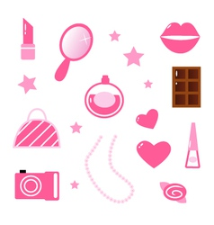 girly icons vector image