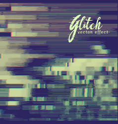 Glitch effect background with distortion vector