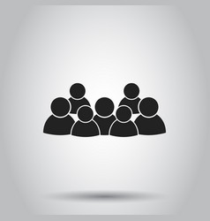 Group of people icon on isolated background vector