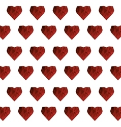 heart pattern icon vector image