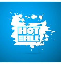 Hot sale title on blue background - winter sale vector