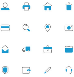 Icons set material design vector