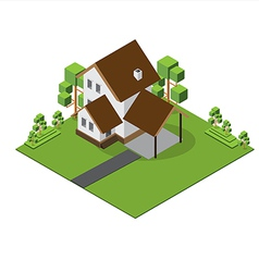Isometric big house 380 vector