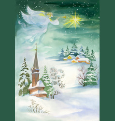 Merry christmas and new year greeting card with vector
