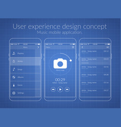 Mobile user experience design concept vector