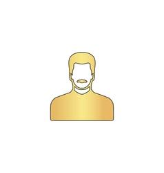 Mustached man computer symbol vector