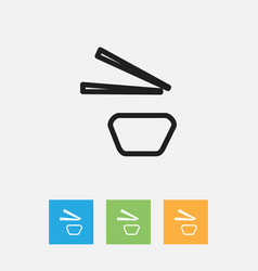 Of cook symbol on sushi vector