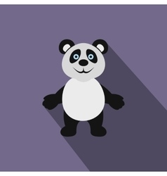 Panda bear icon flat style vector image vector image