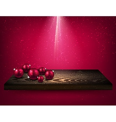Pink background with christmas balls vector