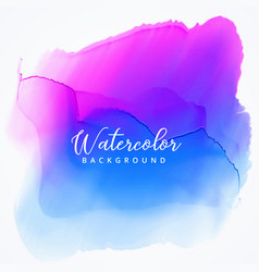 Pink blue watercolor stain texture background vector