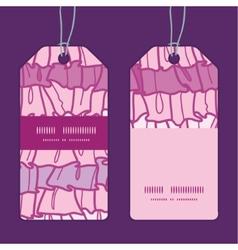 Pink ruffle fabric stripes vertical stripe frame vector