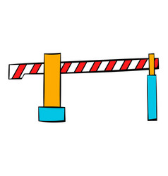 Railway barrier icon icon cartoon vector
