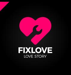 Repair love logo design element vector