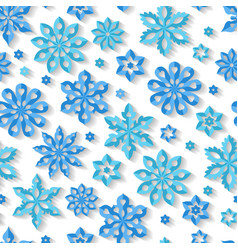 seamless winter snowflake pattern vector image