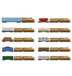 set icons railway train 01 vector image vector image