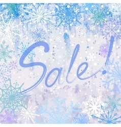Snowy winter sale advertising background vector