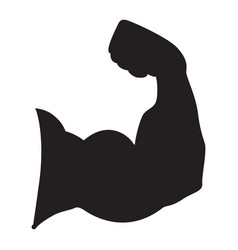 strong power silhouette of arm muscles vector image