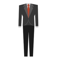 suit elegant male isolated icon vector image
