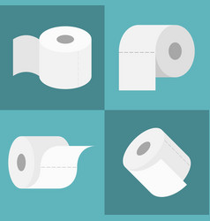 tissue roll icons set vector image