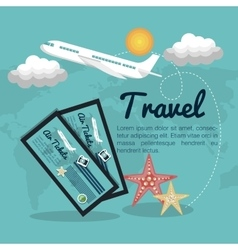 travel airplane tickets design vector image