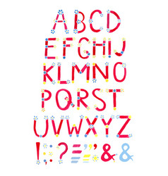 Watercolor font hand drawn alphabet watercolor vector