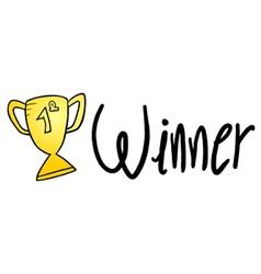 winner sign vector image vector image