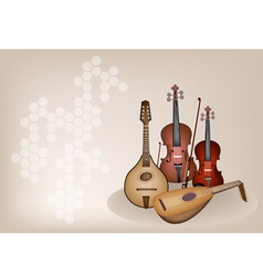 Antique musical instrument strings vector