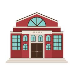red library cartoon building icon vector image
