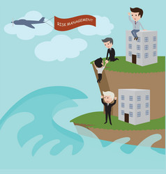 Businessman in risk management vector
