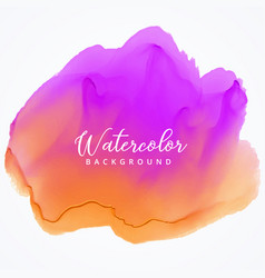 Purple orange abstract watercolor texture vector