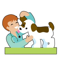 Puppy and Vet vector image