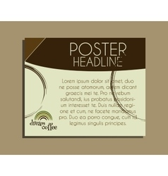 Coffee brand identity banner fresh roasted and vector