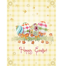 Eggs with floral vector