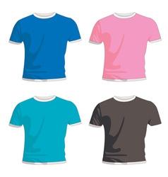 Mens fashion t shirts vector