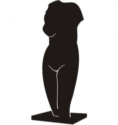 torso of venus a sculpture vector image