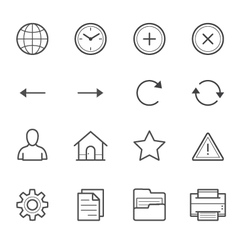 Toolbar icons for application and website vector