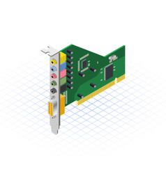 Isometric sound card vector