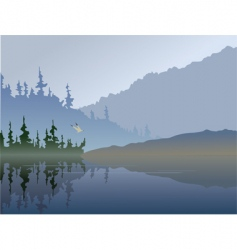 fall lake vector image