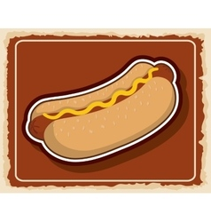 Hot dog icon fast food product graphic vector