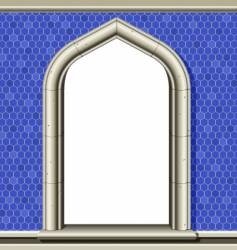 arched window frame vector image