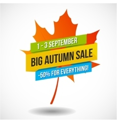 Autumn Sale Discount Logo or Emblem vector image vector image