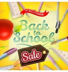 Back to School Sale Design EPS 10 vector image