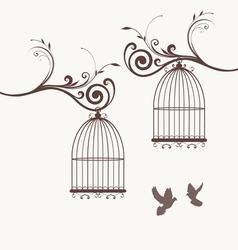 bird vintage vector image vector image